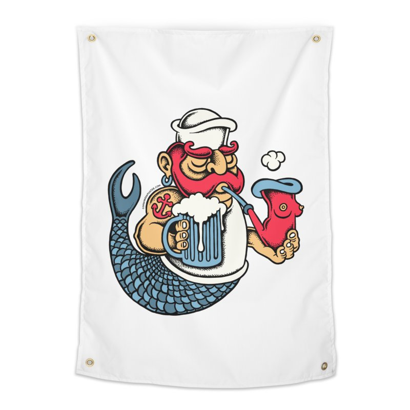 Sailor Mermaid II Home Tapestry by cphposter's Artist Shop