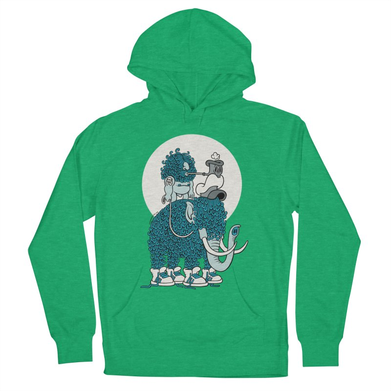 Walking the mammoth Women's Pullover Hoody by cphposter's Artist Shop