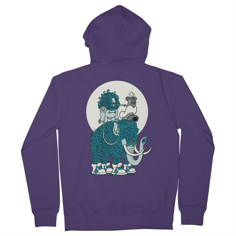 Walking the mammoth Women's Zip-Up Hoody by cphposter's Artist Shop