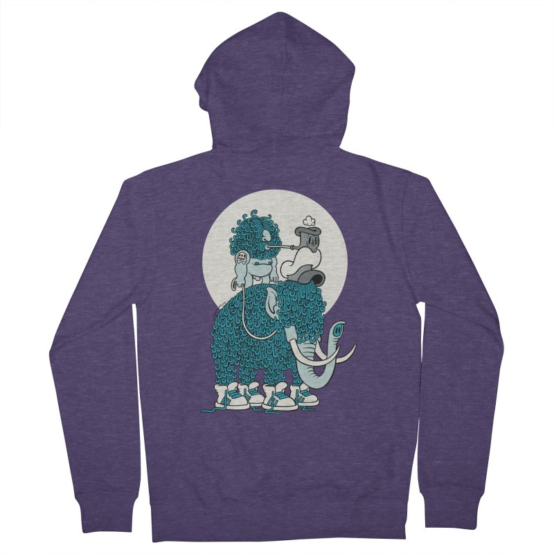 Walking the mammoth Men's Zip-Up Hoody by cphposter's Artist Shop