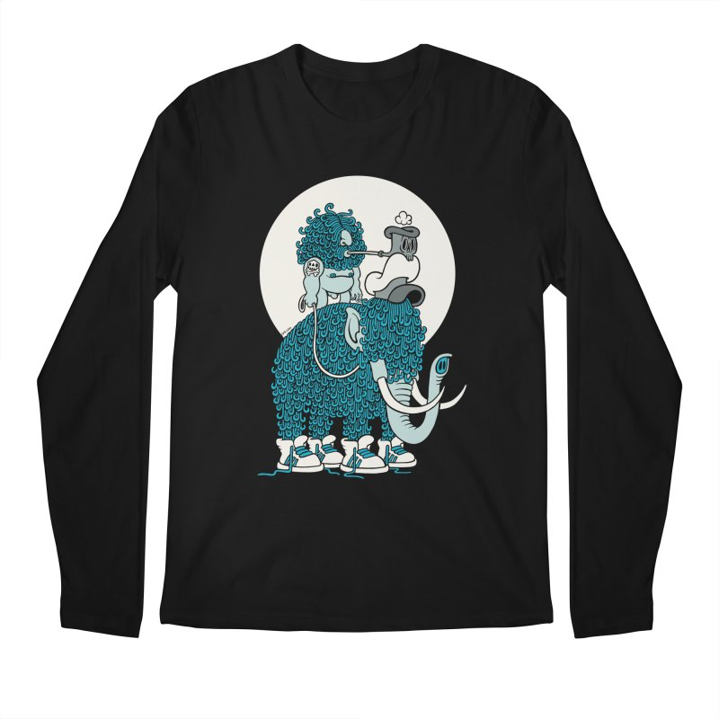 Walking the mammoth Men's Longsleeve T-Shirt by cphposter's Artist Shop