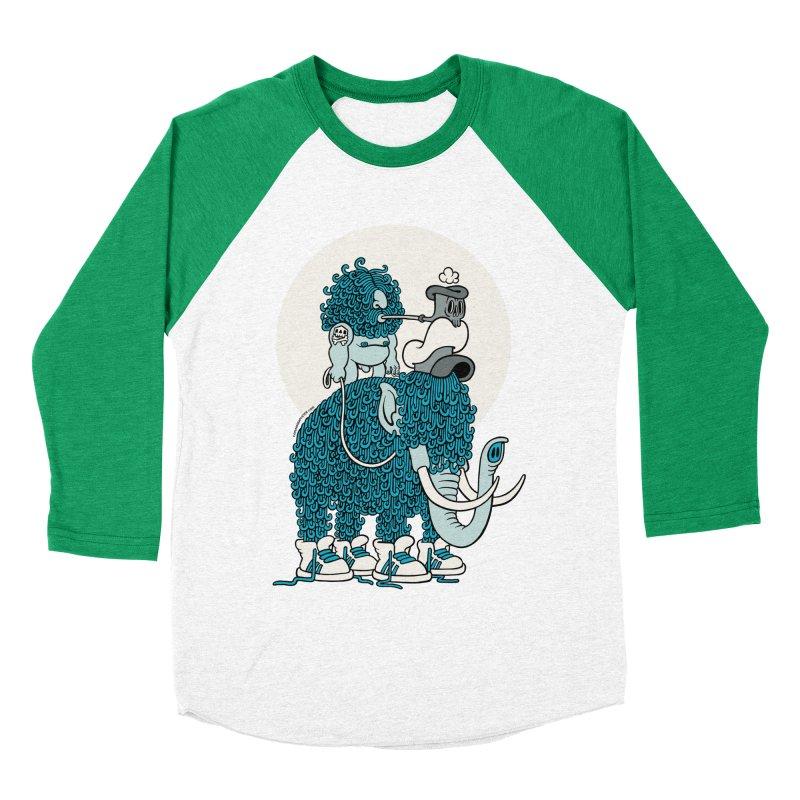 Walking the mammoth Women's Baseball Triblend T-Shirt by cphposter's Artist Shop