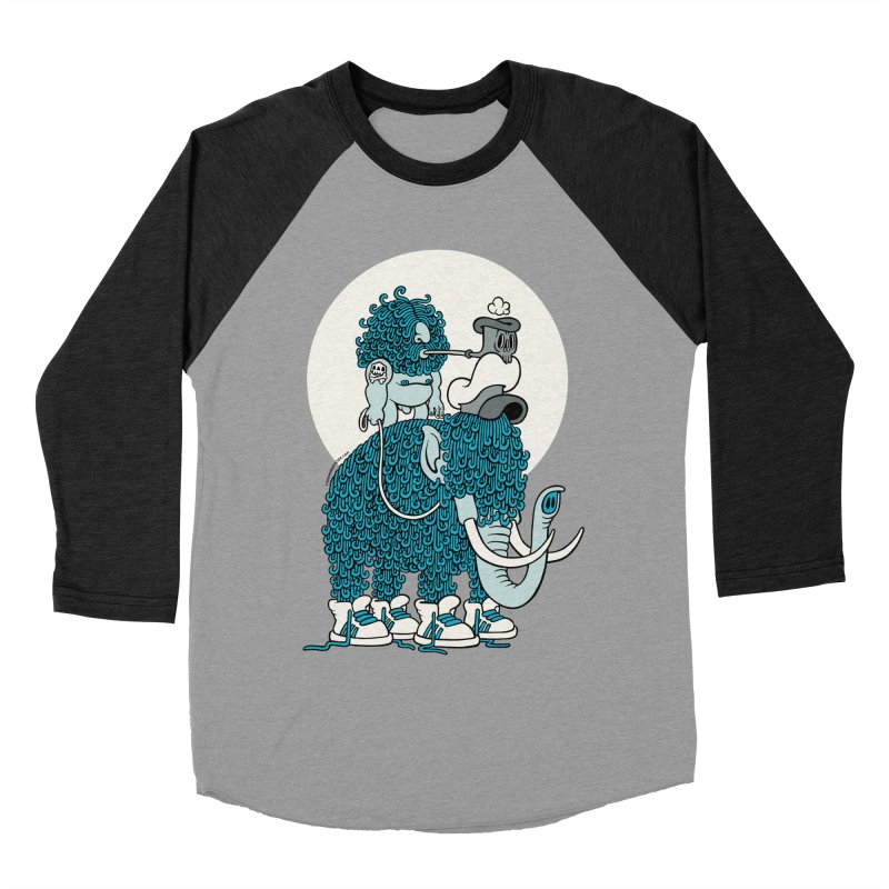 Walking the mammoth Men's Baseball Triblend T-Shirt by cphposter's Artist Shop