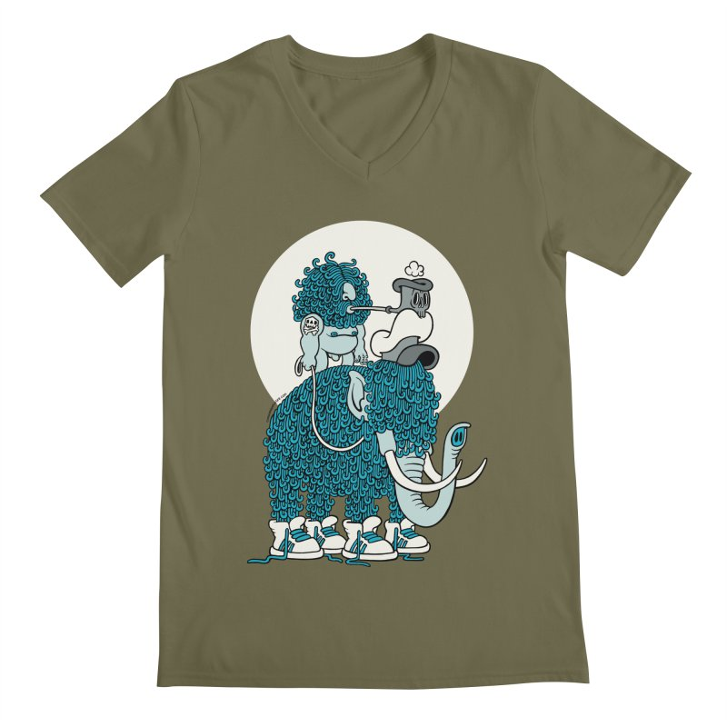 Walking the mammoth Men's V-Neck by cphposter's Artist Shop