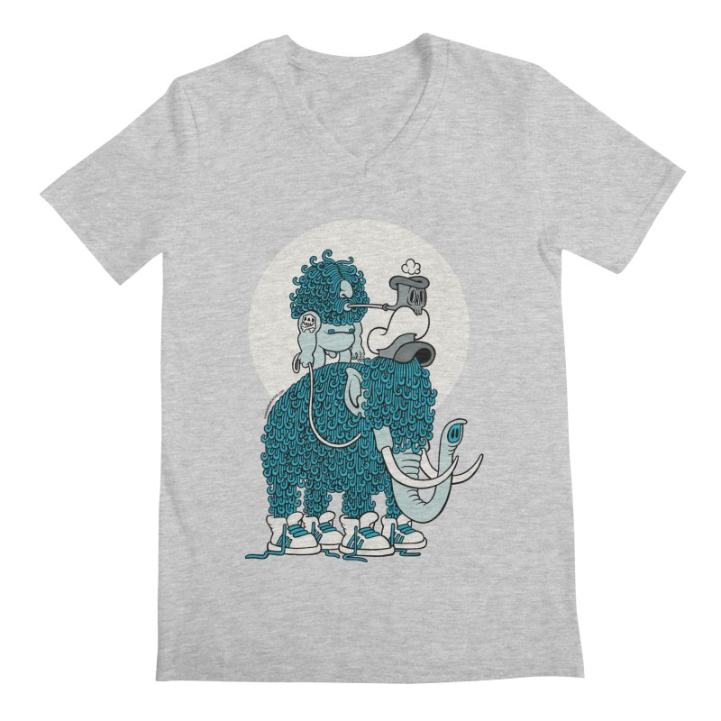 Walking the mammoth Men's Regular V-Neck by cphposter's Artist Shop
