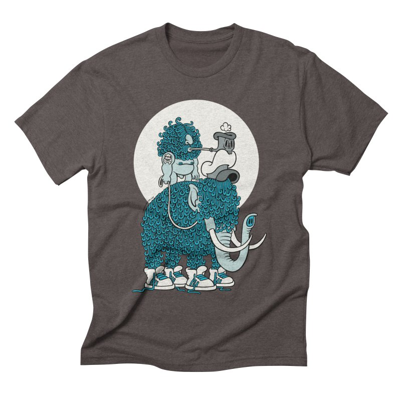 Walking the mammoth Men's Triblend T-shirt by cphposter's Artist Shop