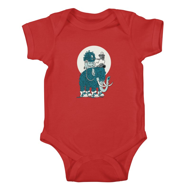 Walking the mammoth Kids Baby Bodysuit by cphposter's Artist Shop
