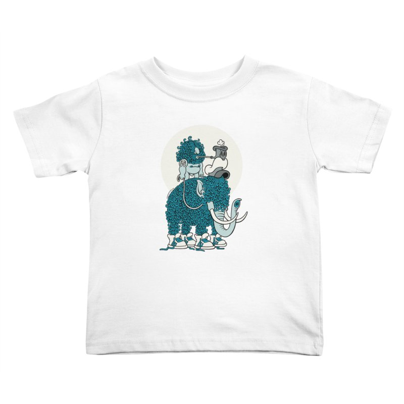 Walking the mammoth Kids Toddler T-Shirt by cphposter's Artist Shop