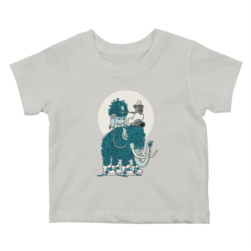 Walking the mammoth Kids Baby T-Shirt by cphposter's Artist Shop