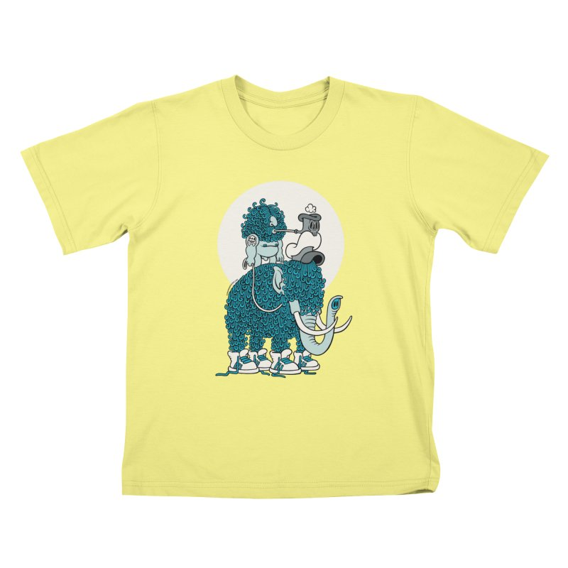 Walking the mammoth Kids T-shirt by cphposter's Artist Shop