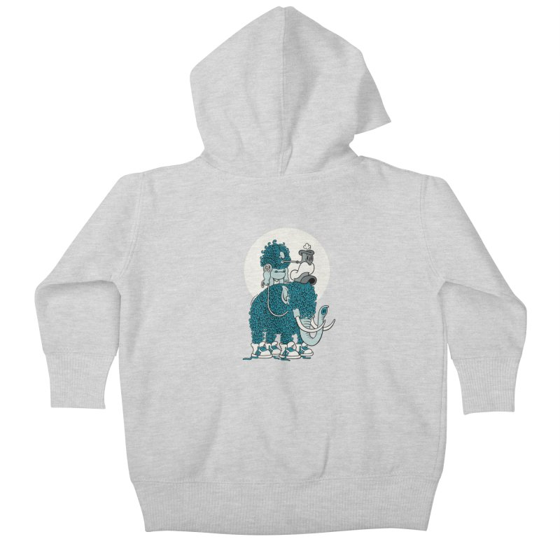 Walking the mammoth Kids Baby Zip-Up Hoody by cphposter's Artist Shop