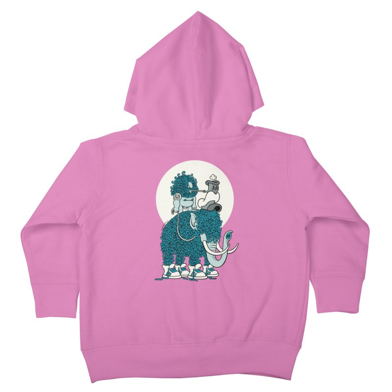 Walking the mammoth Kids Toddler Zip-Up Hoody by cphposter's Artist Shop