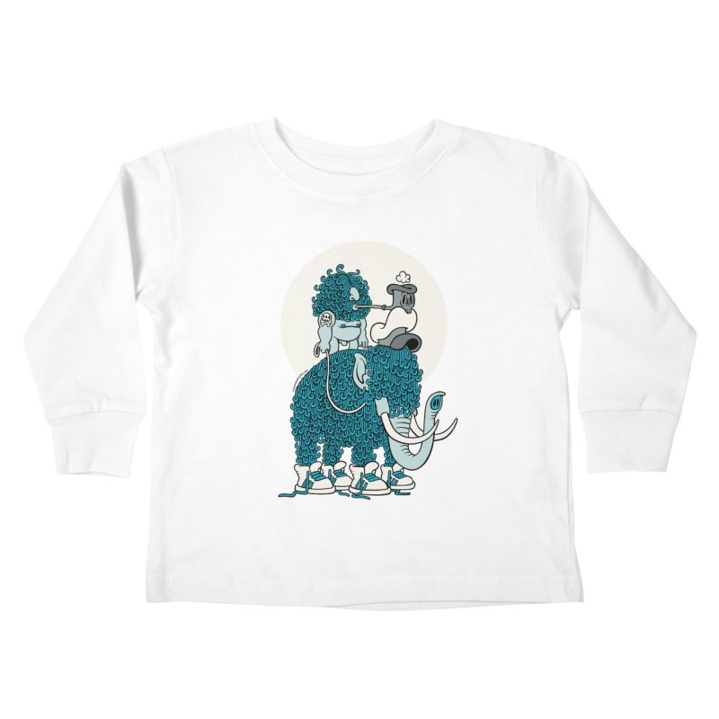 Walking the mammoth Kids Toddler Longsleeve T-Shirt by cphposter's Artist Shop