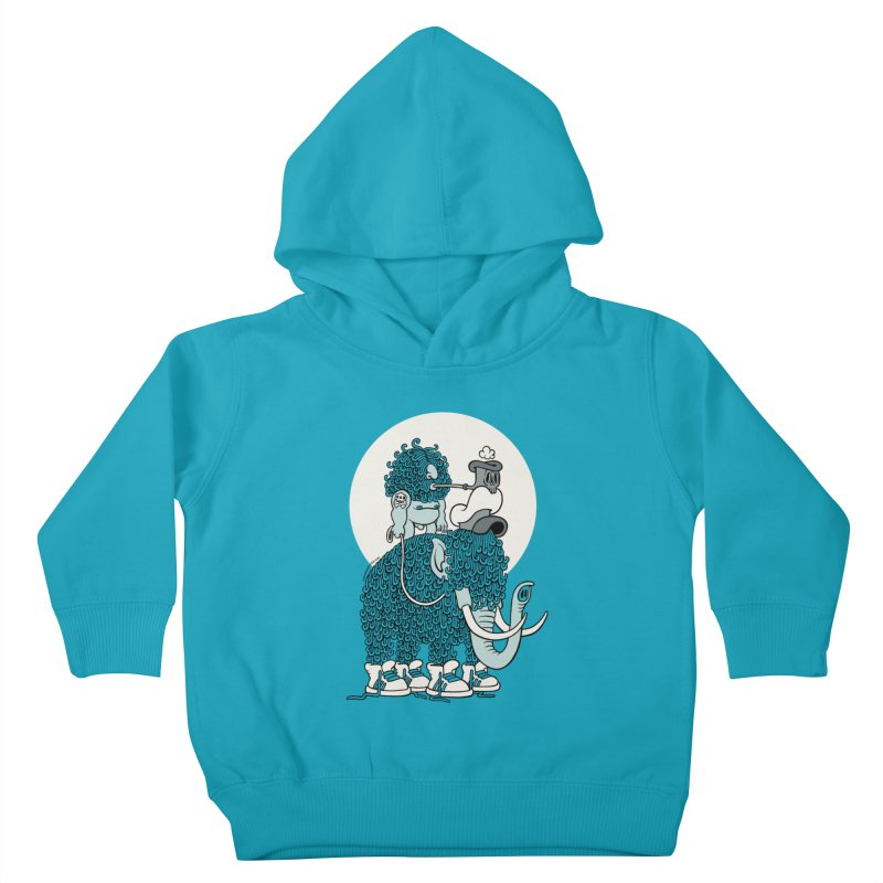 Walking the mammoth Kids Toddler Pullover Hoody by cphposter's Artist Shop