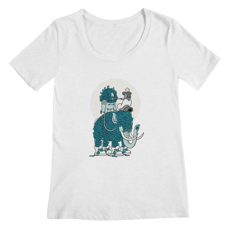 Walking the mammoth Women's Scoopneck by cphposter's Artist Shop