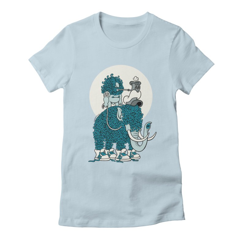 Walking the mammoth Women's Fitted T-Shirt by cphposter's Artist Shop