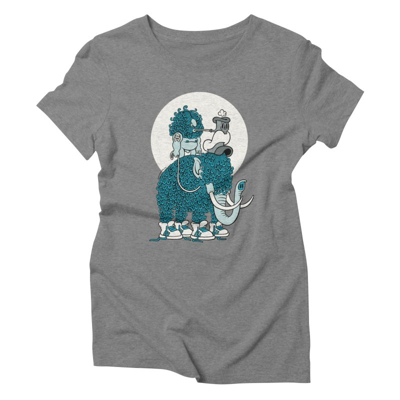Walking the mammoth Women's Triblend T-Shirt by cphposter's Artist Shop