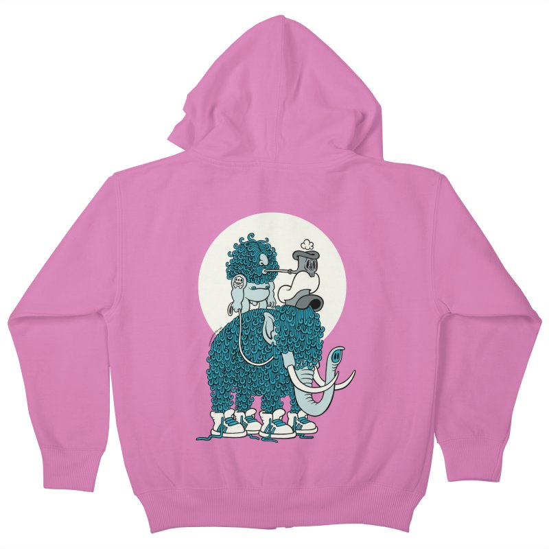 Walking the mammoth Kids Zip-Up Hoody by cphposter's Artist Shop