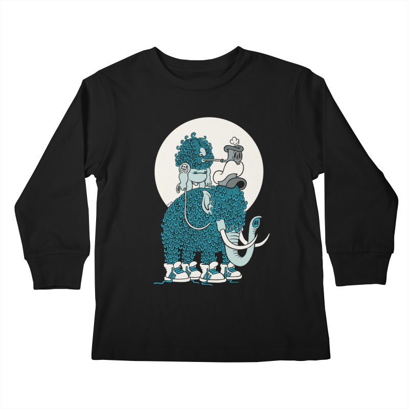 Walking the mammoth Kids Longsleeve T-Shirt by cphposter's Artist Shop