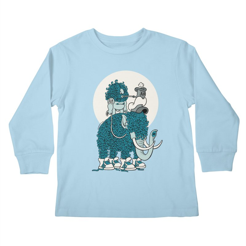 Walking the mammoth Kids Longsleeve T-Shirt by cphposter's Artist Shop