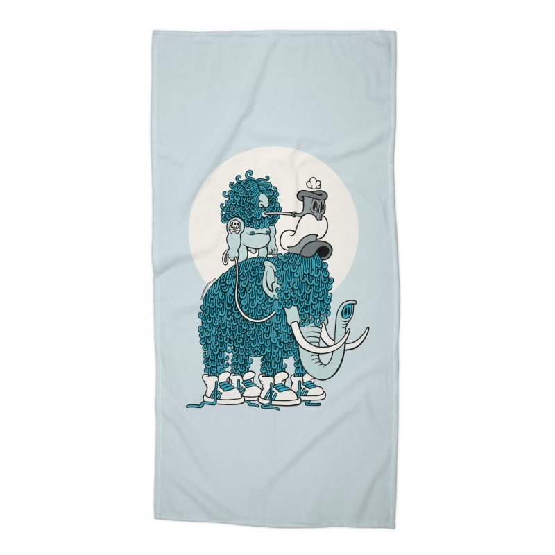 Walking the mammoth Accessories Beach Towel by cphposter's Artist Shop