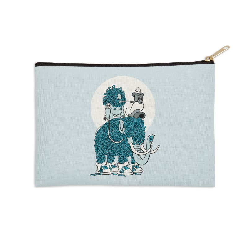 Walking the mammoth Accessories Zip Pouch by cphposter's Artist Shop