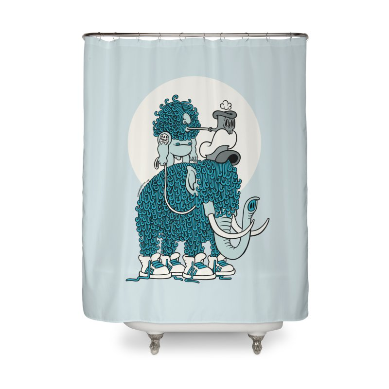 Walking the mammoth Home Shower Curtain by cphposter's Artist Shop