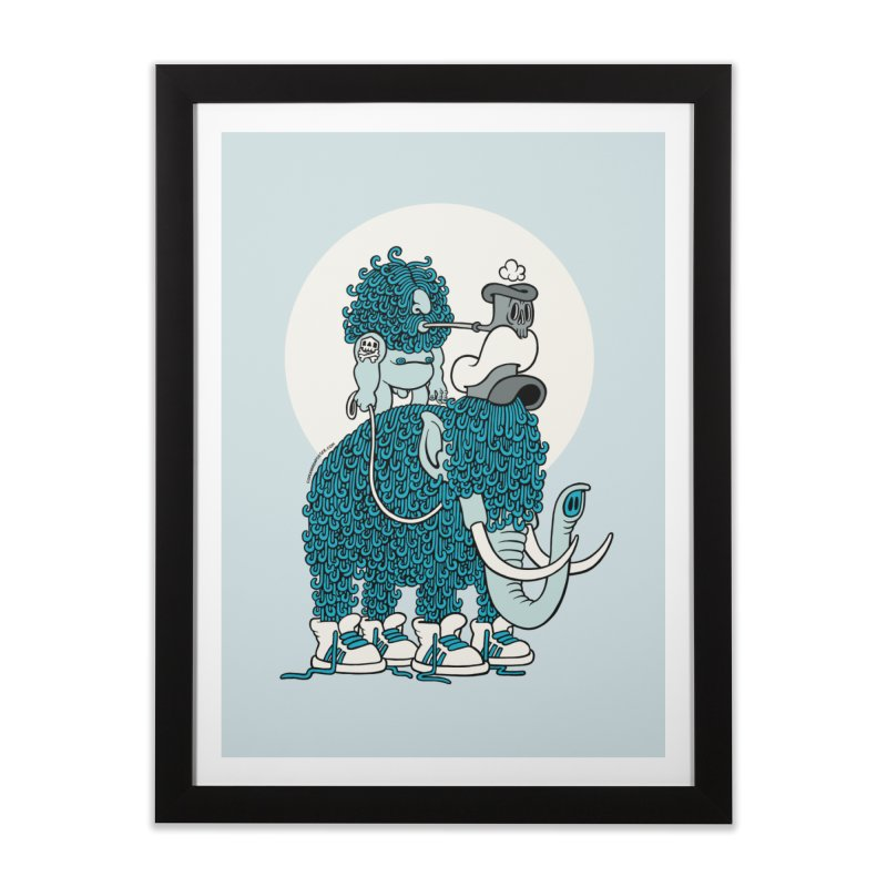 Walking the mammoth Home Framed Fine Art Print by cphposter's Artist Shop