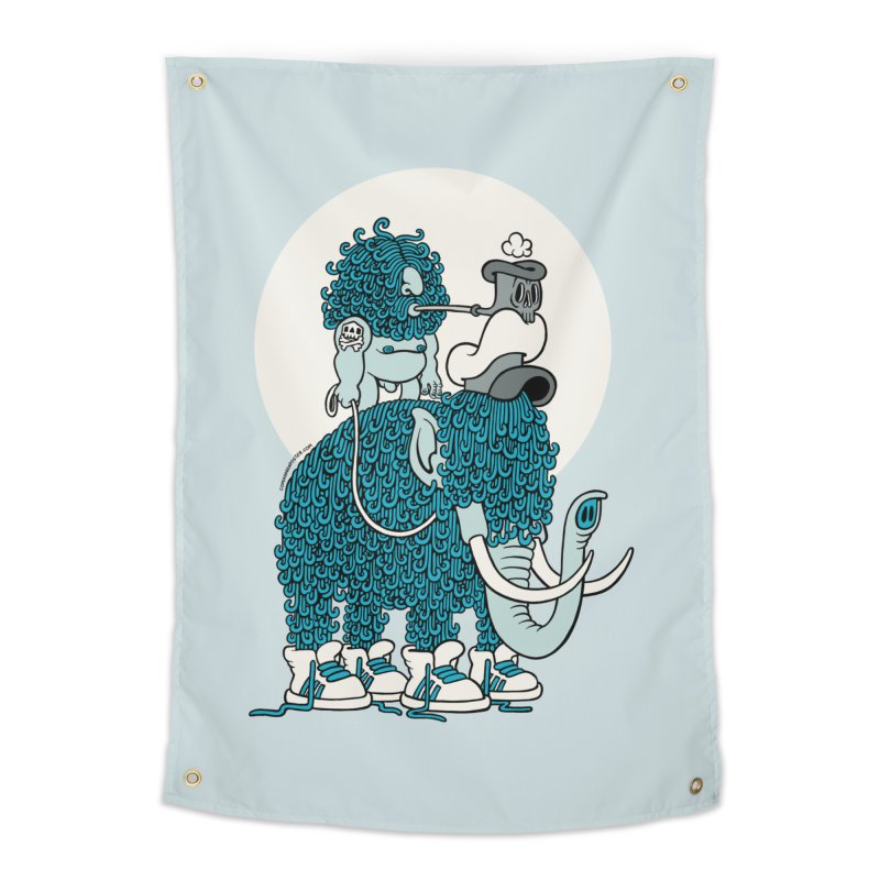 Walking the mammoth Home Tapestry by cphposter's Artist Shop