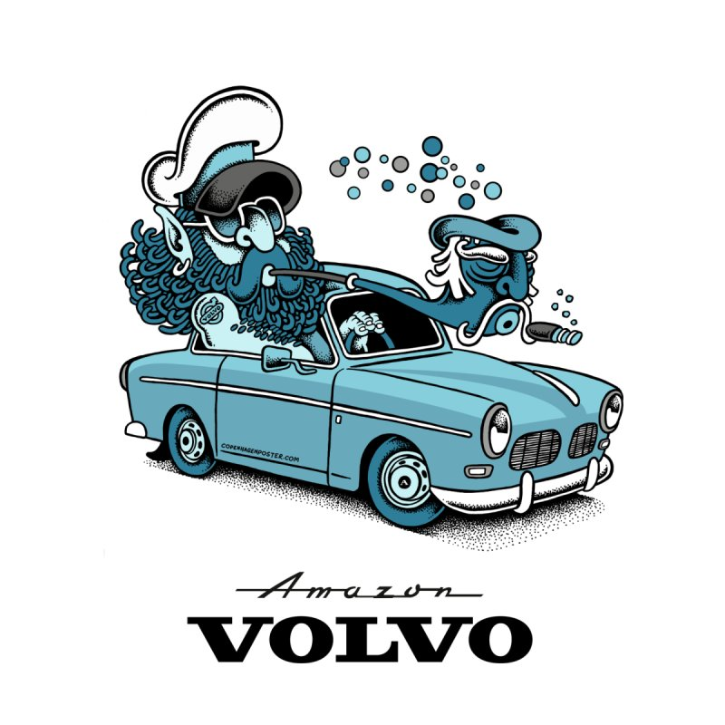 Volvo Amazon by cphposter's Artist Shop