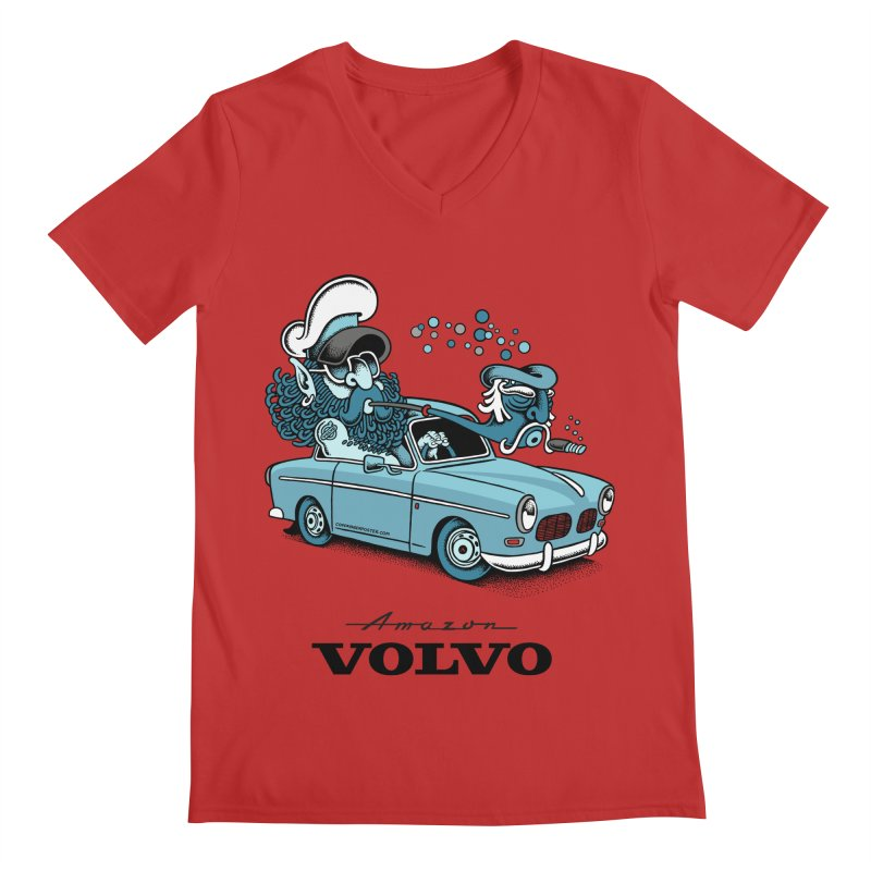 Volvo Amazon Men's V-Neck by cphposter's Artist Shop