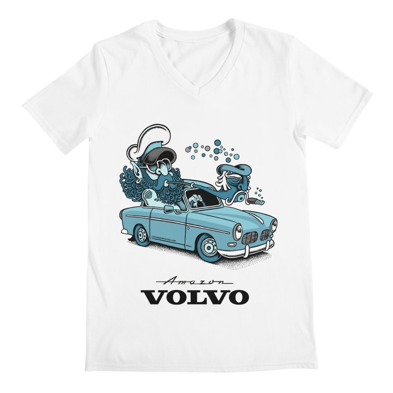 Volvo Amazon Men's Regular V-Neck by cphposter's Artist Shop