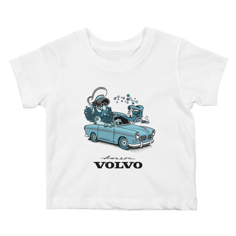 Volvo Amazon Kids Baby T-Shirt by cphposter's Artist Shop