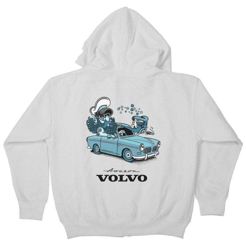 Volvo Amazon Kids Zip-Up Hoody by cphposter's Artist Shop