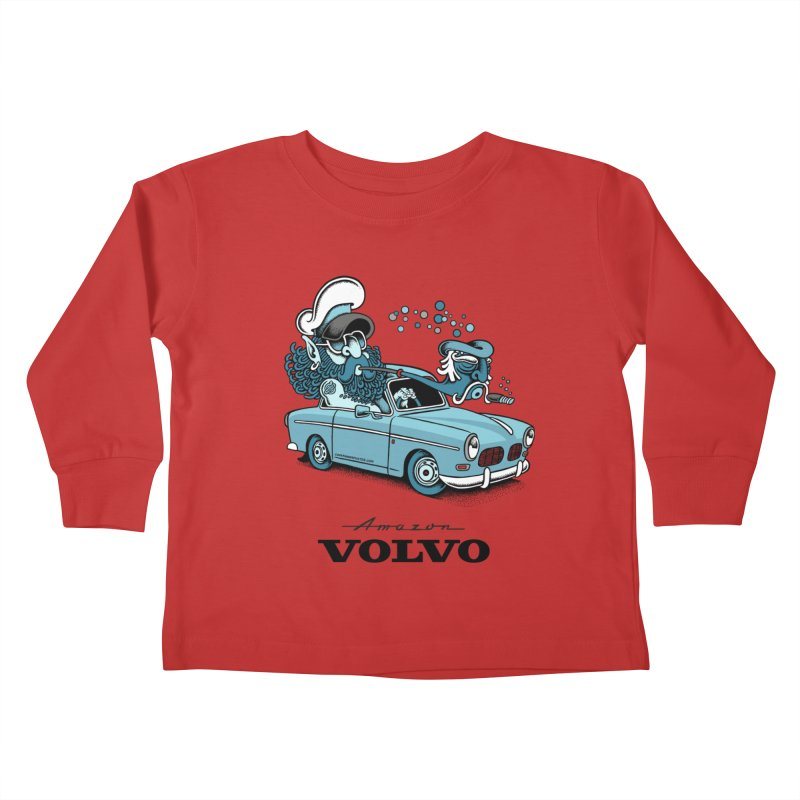 Volvo Amazon Kids Toddler Longsleeve T-Shirt by cphposter's Artist Shop