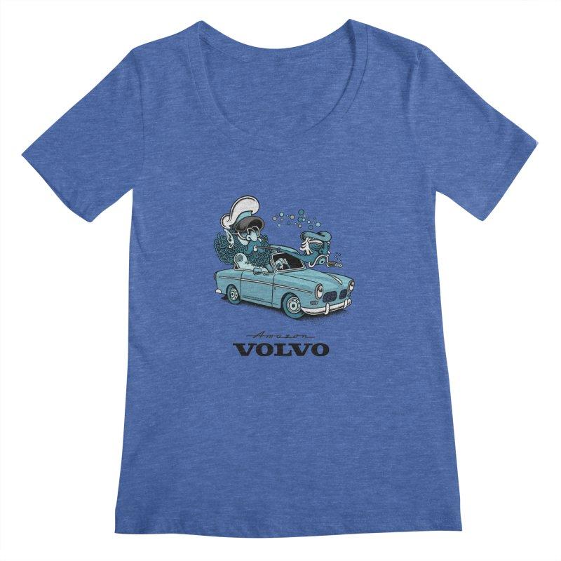 Volvo Amazon Women's Scoopneck by cphposter's Artist Shop