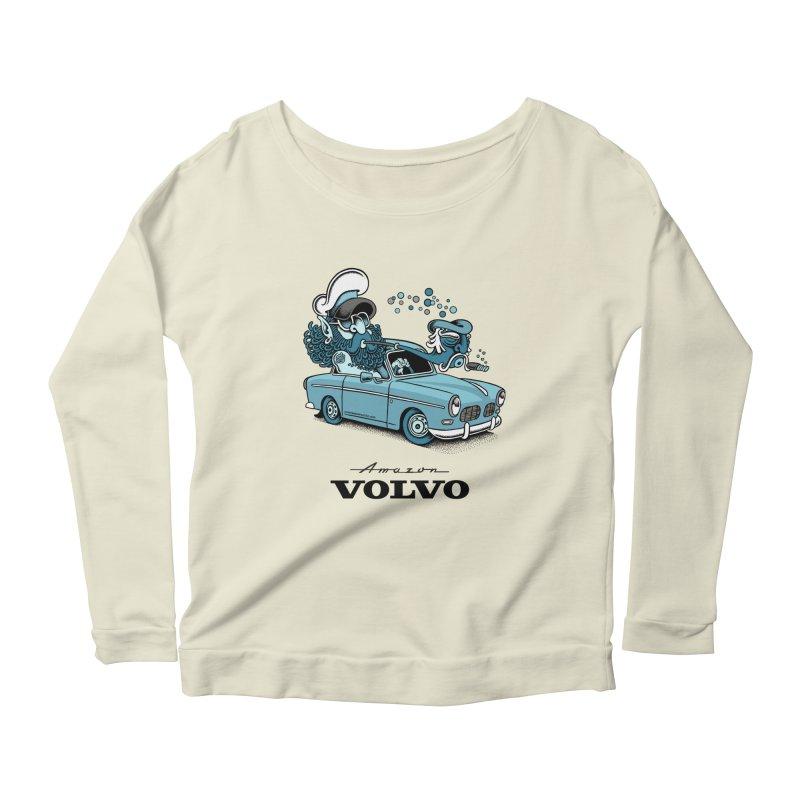 Volvo Amazon Women's Longsleeve Scoopneck  by cphposter's Artist Shop