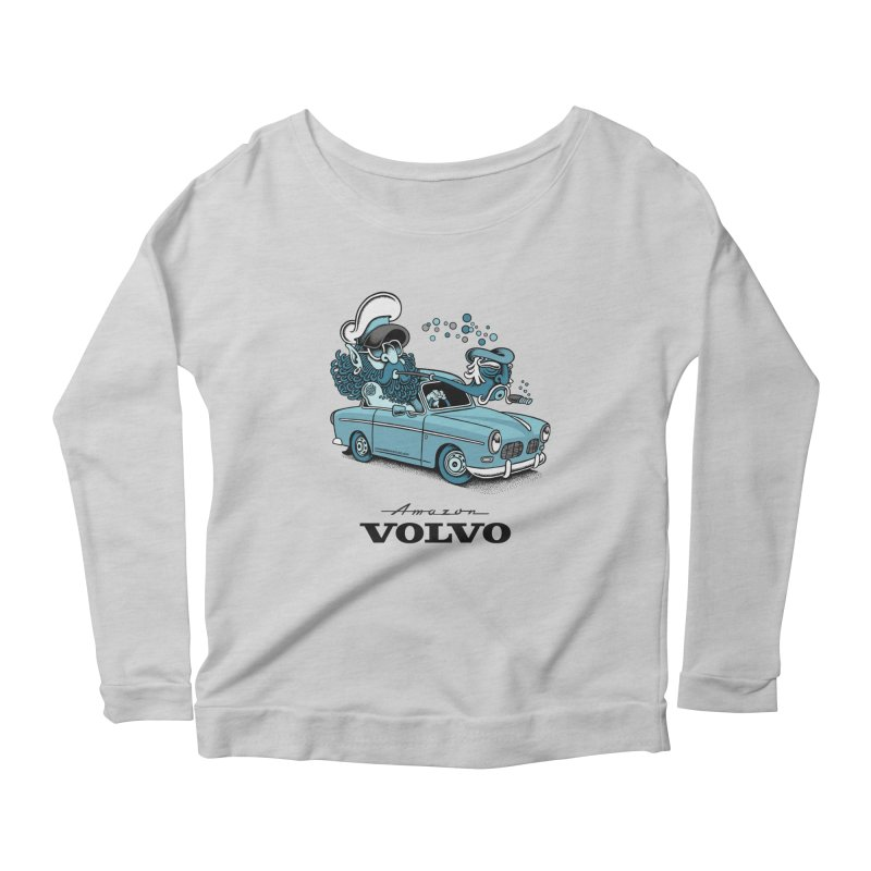 Volvo Amazon Women's Longsleeve Scoopneck  by cphposter's Artist Shop