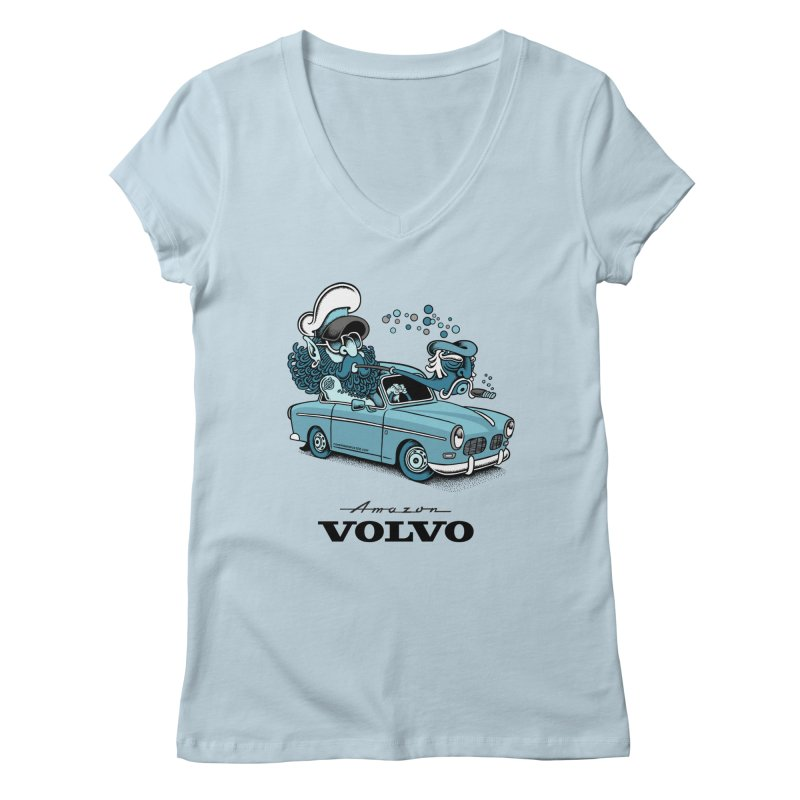 Volvo Amazon Women's V-Neck by cphposter's Artist Shop