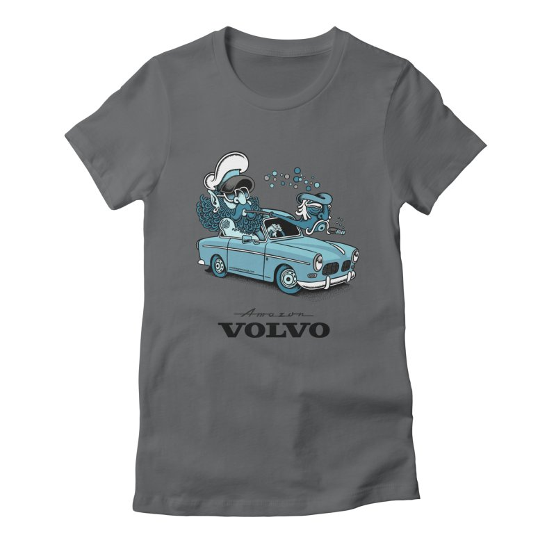 Volvo Amazon Women's Fitted T-Shirt by cphposter's Artist Shop