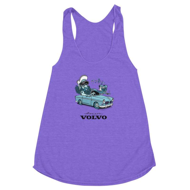 Volvo Amazon Women's Racerback Triblend Tank by cphposter's Artist Shop