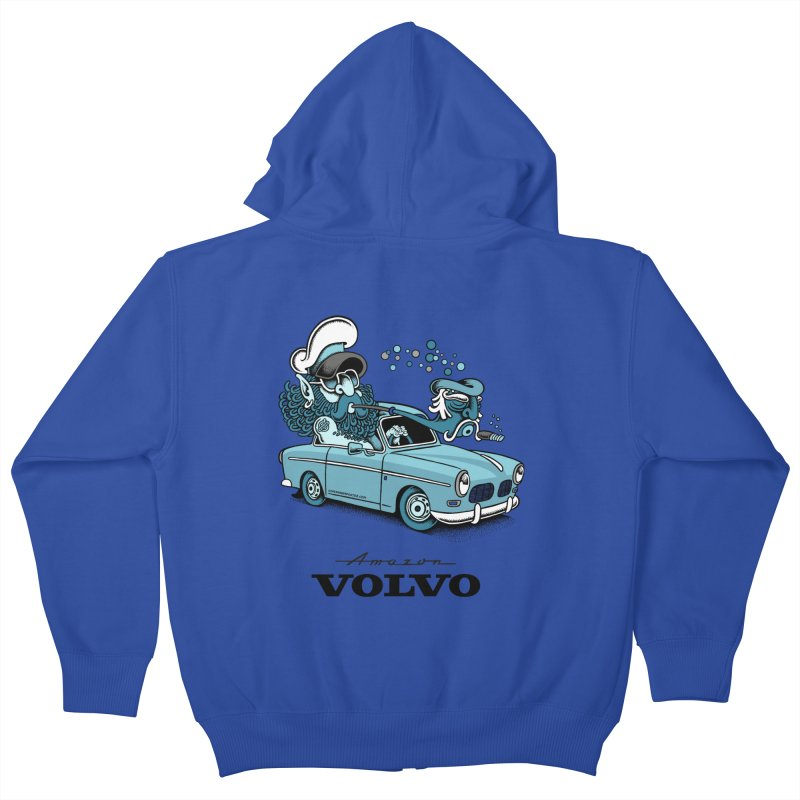 Volvo Amazon Kids Zip-Up Hoody by cphposter's Artist Shop