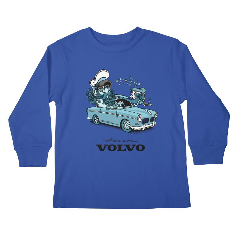 Volvo Amazon Kids Longsleeve T-Shirt by cphposter's Artist Shop