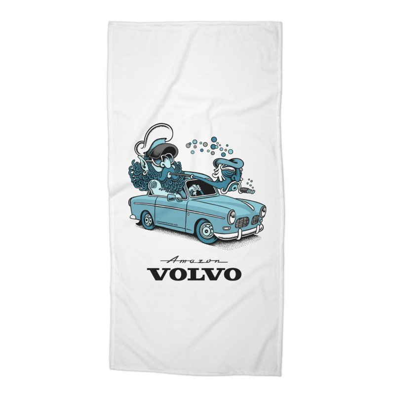 Volvo Amazon Accessories Beach Towel by cphposter's Artist Shop