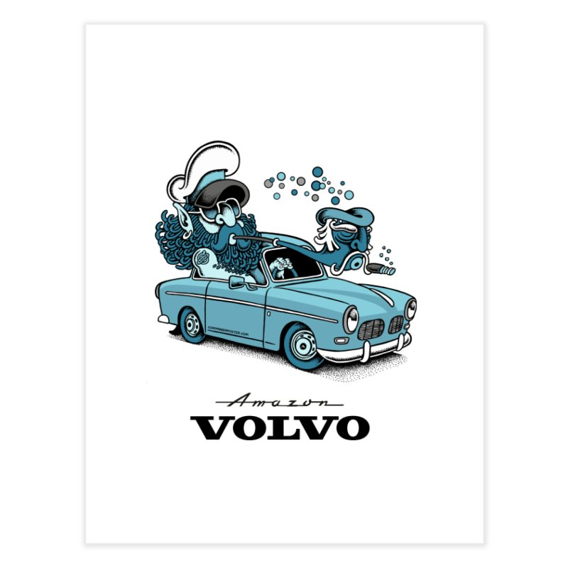Volvo Amazon Home Fine Art Print by cphposter's Artist Shop