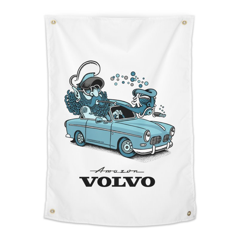Volvo Amazon Home Tapestry by cphposter's Artist Shop