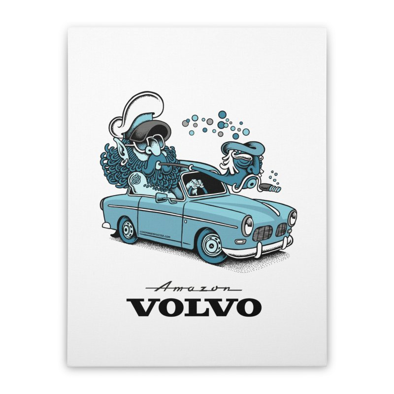 Volvo Amazon Home Stretched Canvas by cphposter's Artist Shop