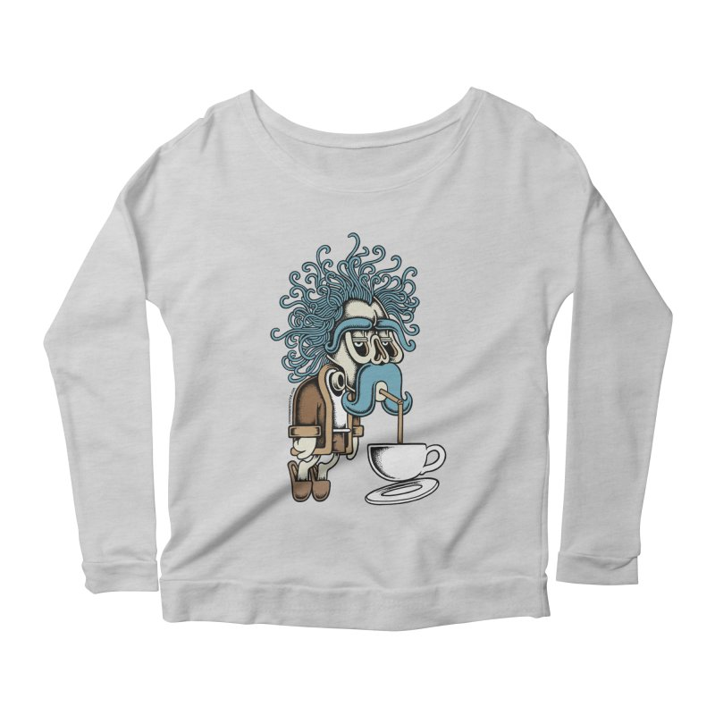 Monday Women's Longsleeve Scoopneck  by cphposter's Artist Shop