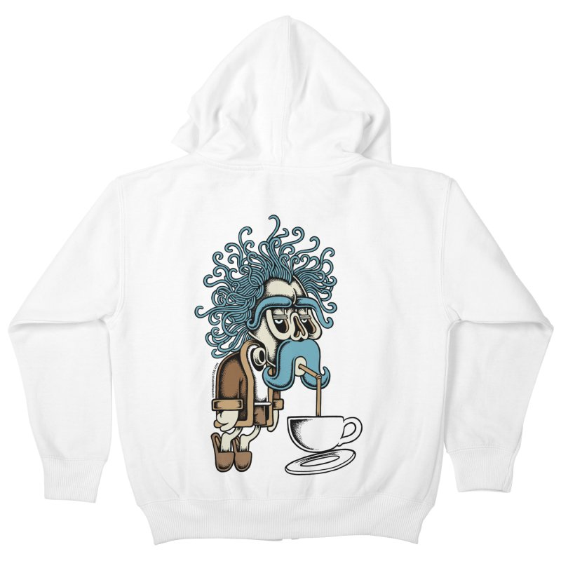 Monday Kids Zip-Up Hoody by cphposter's Artist Shop