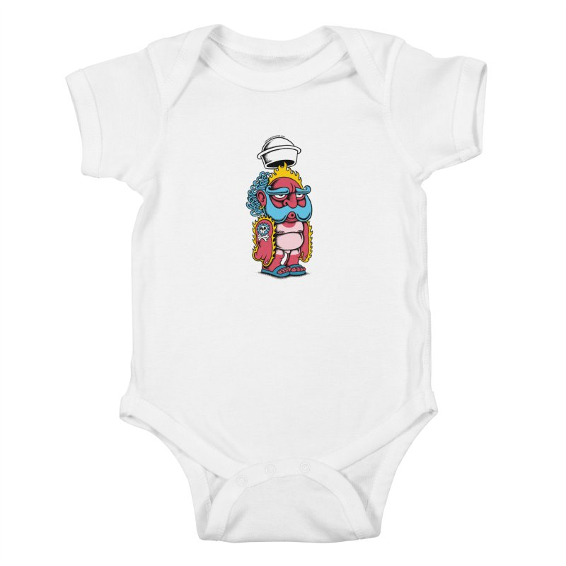 Sunburn Kids Baby Bodysuit by cphposter's Artist Shop